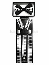 Piano Combo Suspender and Bow tie Combo Unisex Adjustable Set