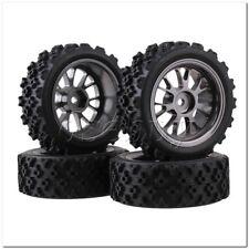 4xRC1:10 On-road Car Flower Pattern Rubber Tyre+Titanium Y-Shape Alloy Wheel Rim