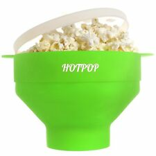 HOTPOP Collapsible Microwave Popcorn Popper with Handles Green - FREE SHIP