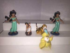 Disney Aladdin PVC Figure Lot of 5  Jasmine Rajah Abu Sultan