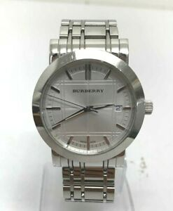 Burberry Heritage Silver Dial Stainless Steel men's Watch 1350