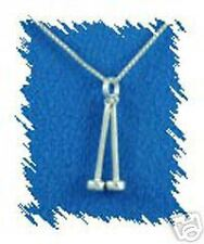 Sterling Silver Band Small Mallets Charm