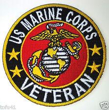 """US MARINE CORPS VETERAN  3"""" RD Military Hero Biker Patch P2412 E"""