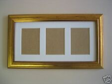 Gold picture frame ACEO Art card 3.5 x 2.5 WHITE MOUNT
