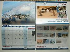 2012 AEROSPACE CALENDAR 14 MONTHS CALENDRIER BALLARD TECHNOLOGY AVIONICS DATABUS