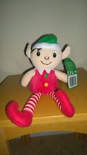 """11"""" Elf On The Shelf Christmas Soft from head to toe Gift Plush Doll RED/ WHITE"""