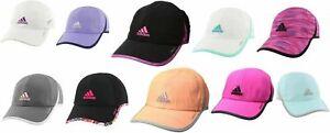 Womens Adidas Adizero Superlite Cap Hat Purple White Pink Running Tennis Golf