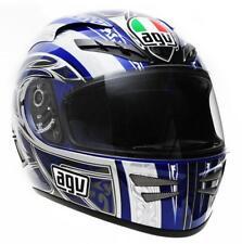 AGV Stealth Razor Full Face Street Motorcycle Helmet Blue Grey Gray 2XLarge XXL