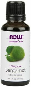 NOW FOODS Liquid Bergamot Oil 1 oz  Aromatherapy Essential Oil Fragrance Oil