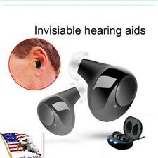 1 Pair Mini Rechargeable Invisible Hearing Aids In the Ear Amplifier Assist 2019