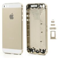 CARCASA CHASIS TAPA BATERIA APPLE IPHONE 5S BLANCO DORADO
