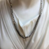 King Byzantine Bali 2.5mm Sterling Silver 925 Men Chains Necklaces 19GR 20 Inch