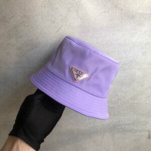 Pr-a-d-a Bucket Hat Cap Purple One Size Free Shipping Brand New Without Box