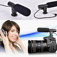 Studio Digital Video DV Stereo Recording Microphones 3.5mm for DSLR Camera
