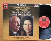 SXLP 30529 Brahms Symphony 2 Alto Rhapsody Janet Baker Adrian Boult NM/EX Stereo