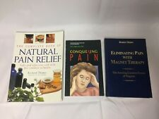 3x Natural Pain Relief Books Pain Management Magnetic Therapy Self-Help