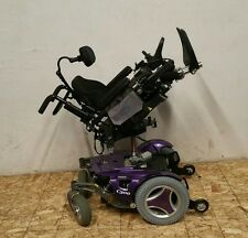 PURPLE PERMOBIL C300 PSJR PEDIATRIC WHEELCHAIR WITH POWER SEAT LIFT,TILT 10Miles