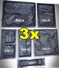 Schalungsformen, Giessformen 18 Stück / ca.1 m2 - Schieferstruktur 320 /18