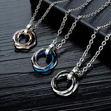 Couple Pendant Necklace Men's Chain Stainless Steel Men Ladies Jewlery Choker