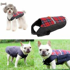 Dog Puppy Pet Jacket Fashion Checkered Breathable Vest Autumn Cold Proof Coat