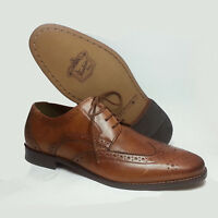 Florsheim Men Size 8.5 Shoes Wingtip Oxford Cognac Brown Leather India
