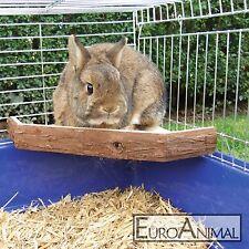 Sitzbrett Aussichtsterrasse 26x26x4cm Kaninchen Meerschweinchen Terasse Eckbrett