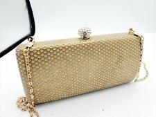 Guess Marciano Rhinestone Clutch Bag Gold
