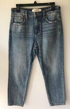 Hidden Jeans Women's High Waist Mom Jeans Light Wash Distressed Sz 29 NWOT