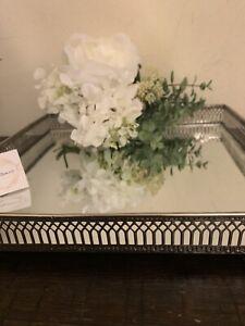 Sqaure Silver Mirror Decorative Tray