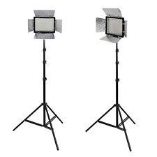 METTLE Studioset VL-2000,Presse-Interview-Set, 2x LED Videoleuchte 2x Stativ