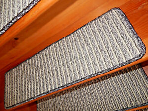 15 = Step 9'' x  30''  Landing  30'' x 24''  Woven Latex Backing Stair Treads.