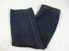 Riders By LEE Cropped Capris Jeans Women Size 6M Cotton Blend Stretch Dark Wash