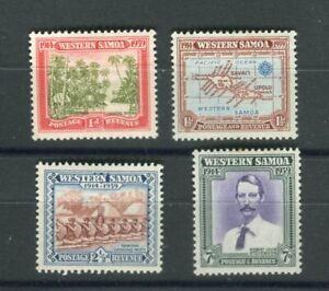West Samoa KGVI 1939 set of 4 SG195/98 MLH