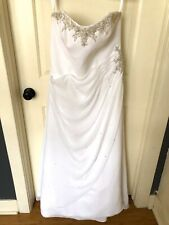 Mori Lee Wedding Dress Strapless Lace Up Back Plus Size 20 Evelyn Gardiner