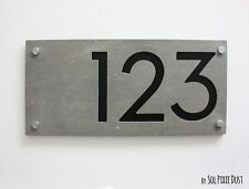 Modern House Numbers, Concrete and Acrylic - Sign Plaque - Door Numbers