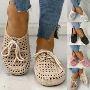 Womens Casual Summer Hollow Out Flat Sandals Ladies Comfy Fashion Beach Shoes