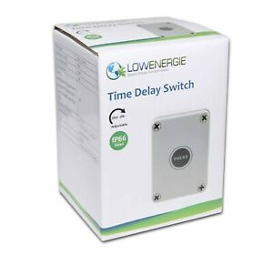 Outdoor Electronic Weatherproof Time Delay Lag Switch IP66 16 Amp