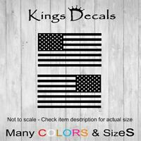 2x Mirrored USA American Flag Decals Jeep/Ford/Chevy Fender Bumper Sticker AUTO