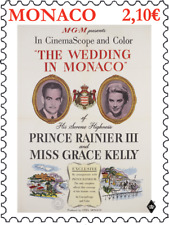 monaco 2019 GRACE KELLY wedding Prince Rainier III film cinema MGM 1956 1v mnh
