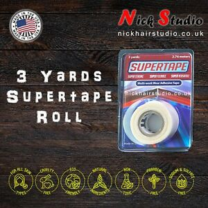 Supertape Roll for Lace Wigs Toupees Hair Replacement - 3 Yards 3/4 Inch