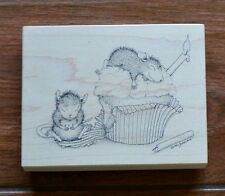 RARE Stampabilities House Mouse Stamp #58 BIRTHDAY CUPCAKE 1997 Vintage