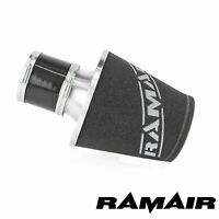 Ramair Silver Aluminium Induction Air Filter Universal With 90Mm Id Coupling