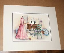 Matted From Mother's Hands by Paula Vaughan  Sewing machine dress quilt Antique