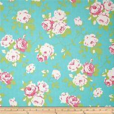 MASSIVE REMNANT FreeSpirit Green CHLOE ROSE VINE Cotton Fabric-Approx 114cmx1.5M