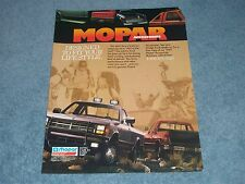 "1989 Mopar Accessories Vintage Dakota Ram Ad ""Designed to Fit Your Life-Style"""