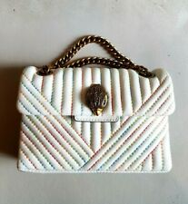 KURT GEIGER White Leather Rainbow MINI KENSINGTON Bag RRP £169 NWT
