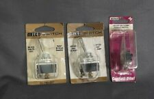 Lot of 3  DC Toggle Switches  ~ 30/15/10 Amp chrome Toggle Switch ~ 12 volt