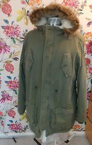 Lambretta Lined Fishtail Parka/Khaki siz M Mod/Skin/(from carnaby clothing soho)