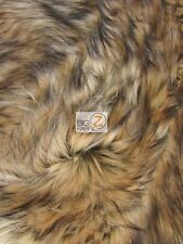 FAUX FAKE FUR ANIMAL SHORT PILE COAT COSTUME FABRIC - Tundra Wolf - BY YARD