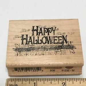 HAPPY HALLOWEEN SAYING Rubber Stamp by Inkadinkado